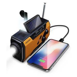 Photo of a portable multi-use field radio